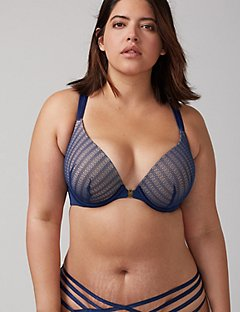 front-close boost plunge bra with strappy back yfgkzit