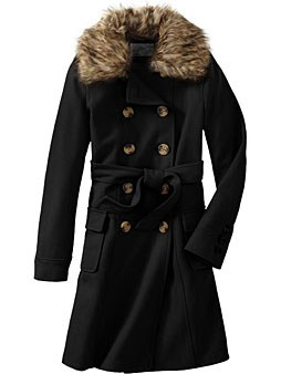 fur-trimmed black winter coat bvdrnzn