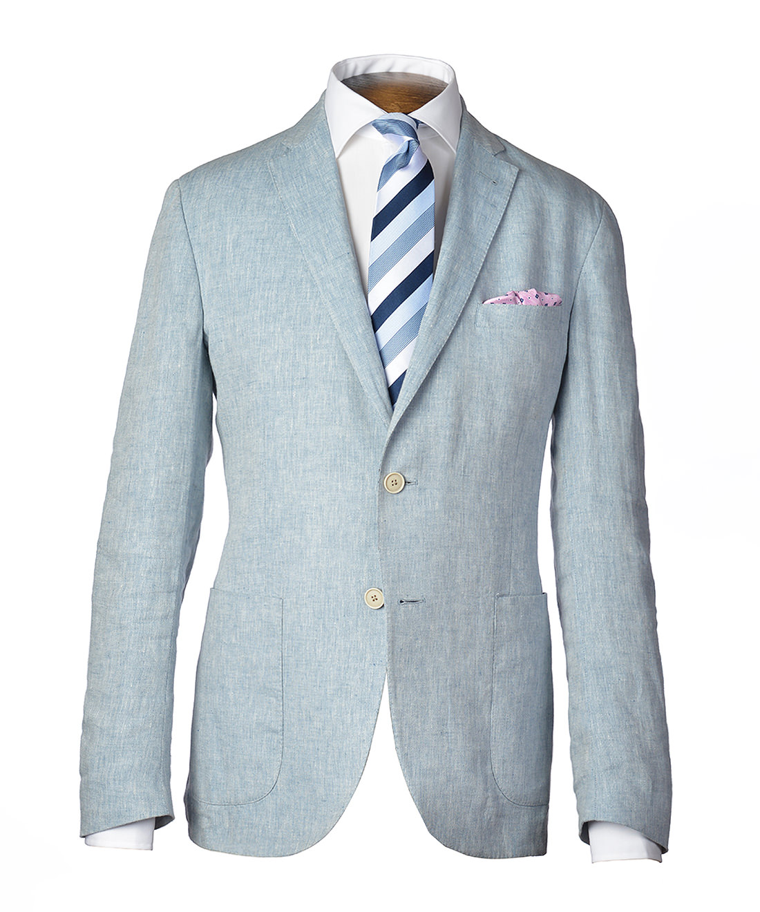 gagliardi light blue chambray linen jacket zlwesqf