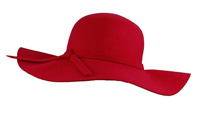 glamorous red wide brim diva style floppy hat ivrkesq