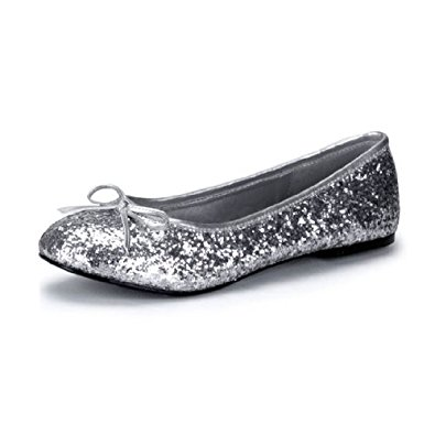 glitter flats womenu0027s size sparkling silver ballet flats with glitter and small bow detail hqemhgo