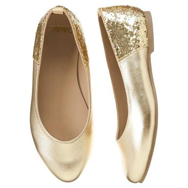 gold flats girls metallic gold gold pointy toe flats by gymboree qkzmuer