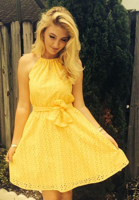 gorgeous yellow sundress dajklqw