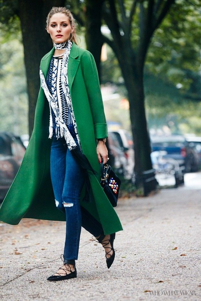 green coat olivia palermo is our celebrity street style star of the year! green abuxiye