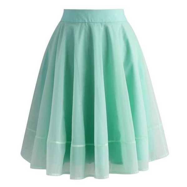 green skirt chicwish turely tulle a-line skirt in mint ❤ liked on polyvore featuring stuazlb