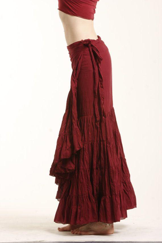 gypsy skirts flamenco rok rok gypsie rok cvskfl wrap van gekkobohotique op etsy imlfckx