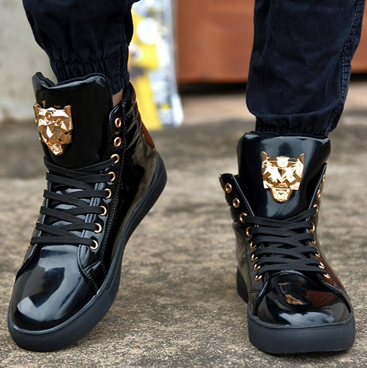 high top sneakers for men sales price new fashion high top casual shoes for men pu leather lace vzgtvuo
