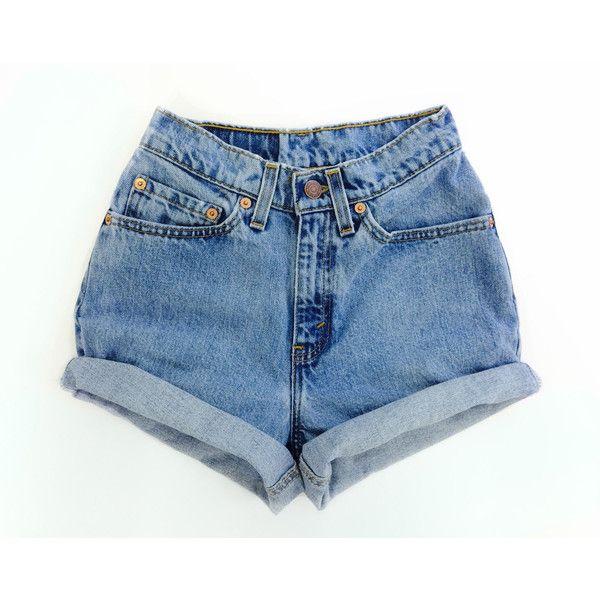 high waisted jean shorts levis high waisted cuffed denim shorts rolled up denim shorts bleached...  ($59 pyfxjqm