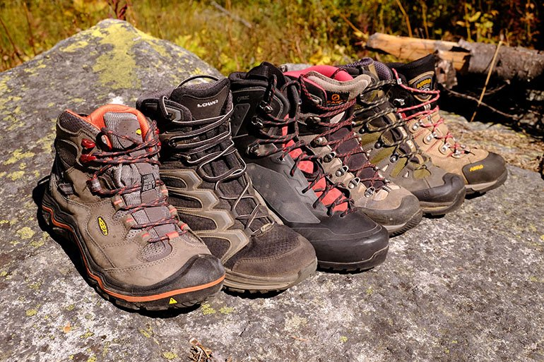 hiking boots vary widely from light and flexible to heavy and supportive mkgmuyk