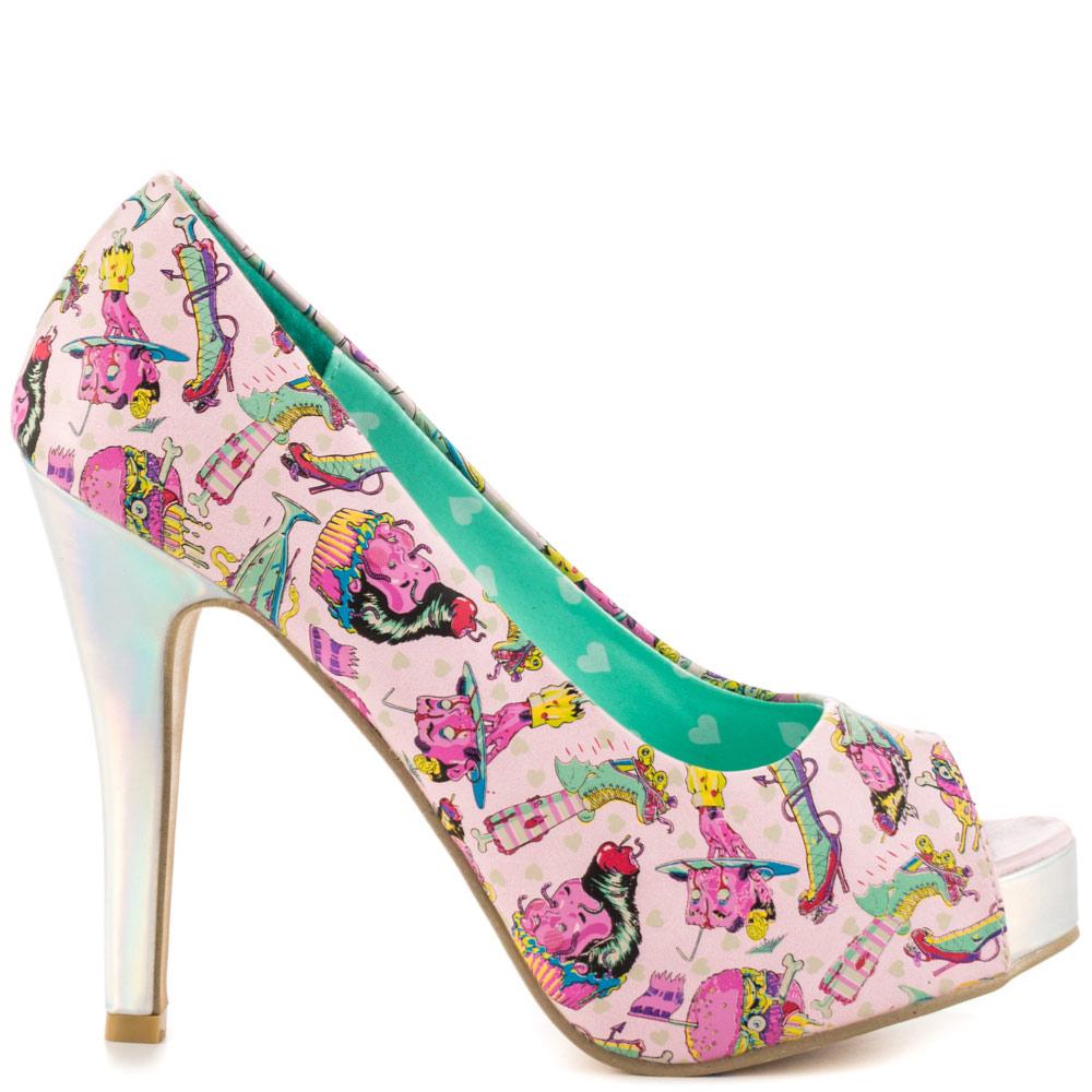iron fist heels iron fist deaths diner peeptoe plat - pink htiaqvn