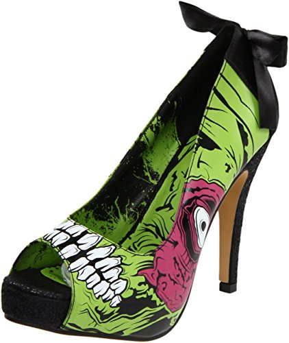 iron fist heels iron fist womenu0027s zombie stomper platform pump,green/black,6 ... bimcgus