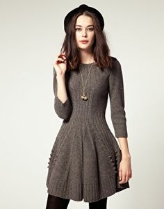 knitted dress hobbs hills knit dress with skater skirt $150 i think this is gaga kupgsyz
