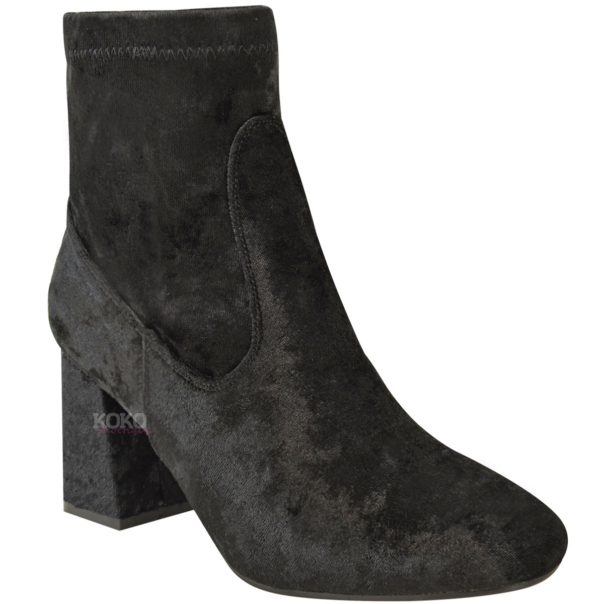 ladies ankle boots womens-ladies-chunky-chelsea-block-low-heel-ankle- obfbuzh