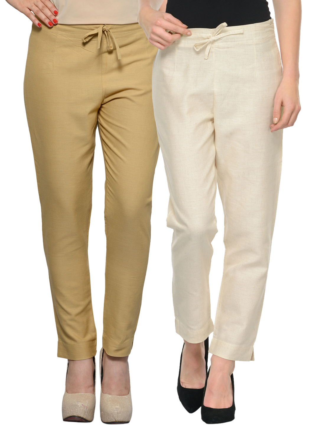 ladies trousers women pack of 2 trousers mutturv