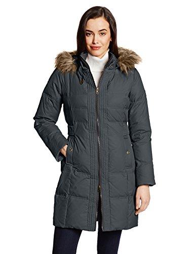 larry levine coats larry levine womenu0027s hooded three-quarter length down coat at amazon  womenu0027s coats jsucyab