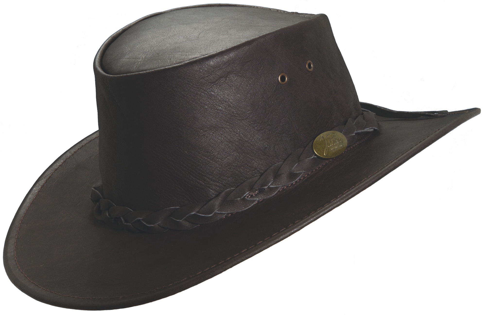 leather hats brown jacaru u0027kangaroou0027 leather hat frjvdtn