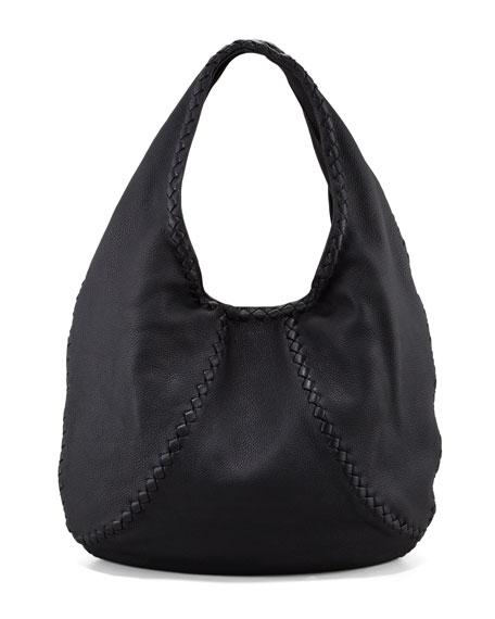 leather hobo bags bottega venetacervo large hobo bag, black vzoeyop