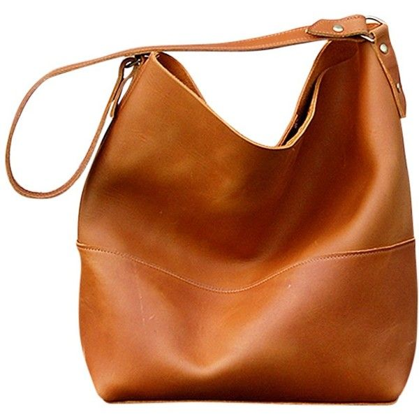 leather hobo bags bubo handmade catalina leather hobo bag ($175) ❤ liked on polyvore  featuring lreedmh