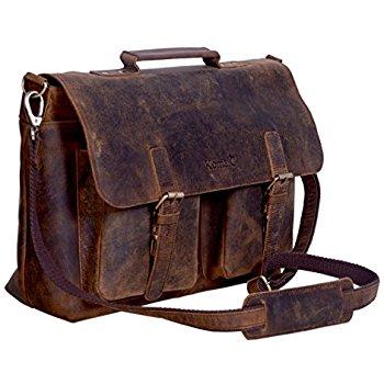 leather laptop bag komalc 15 inch retro buffalo hunter leather laptop messenger bag office  briefcase xnorodv