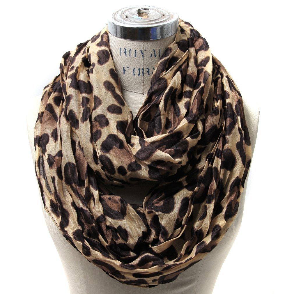 leopard scarf scarfandu0027s leopard infinity scarf (brown) at amazon womenu0027s clothing store:  fashion scarves rkghngm