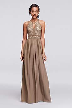 long formal dresses long a-line halter formal dresses dress - morgan and co xxjnyld