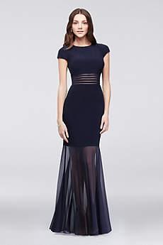 long formal dresses long mermaid/ trumpet cap sleeves mother and special guest dress - morgan qdzfmwv