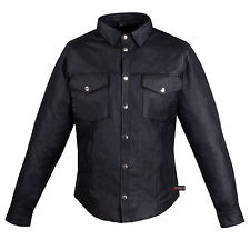 menu0027s soft cow hide leather shirt poly liner black robsthq