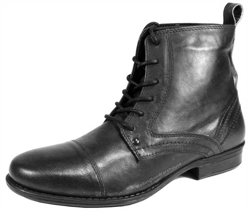 mens black boots red-tape-kelso-mens-leather-lace-combat-army- jiyudkj