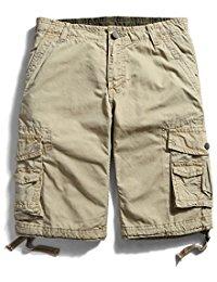 mens cargo shorts menu0027s cotton loose fit multi pocket cargo shorts wqikjgy