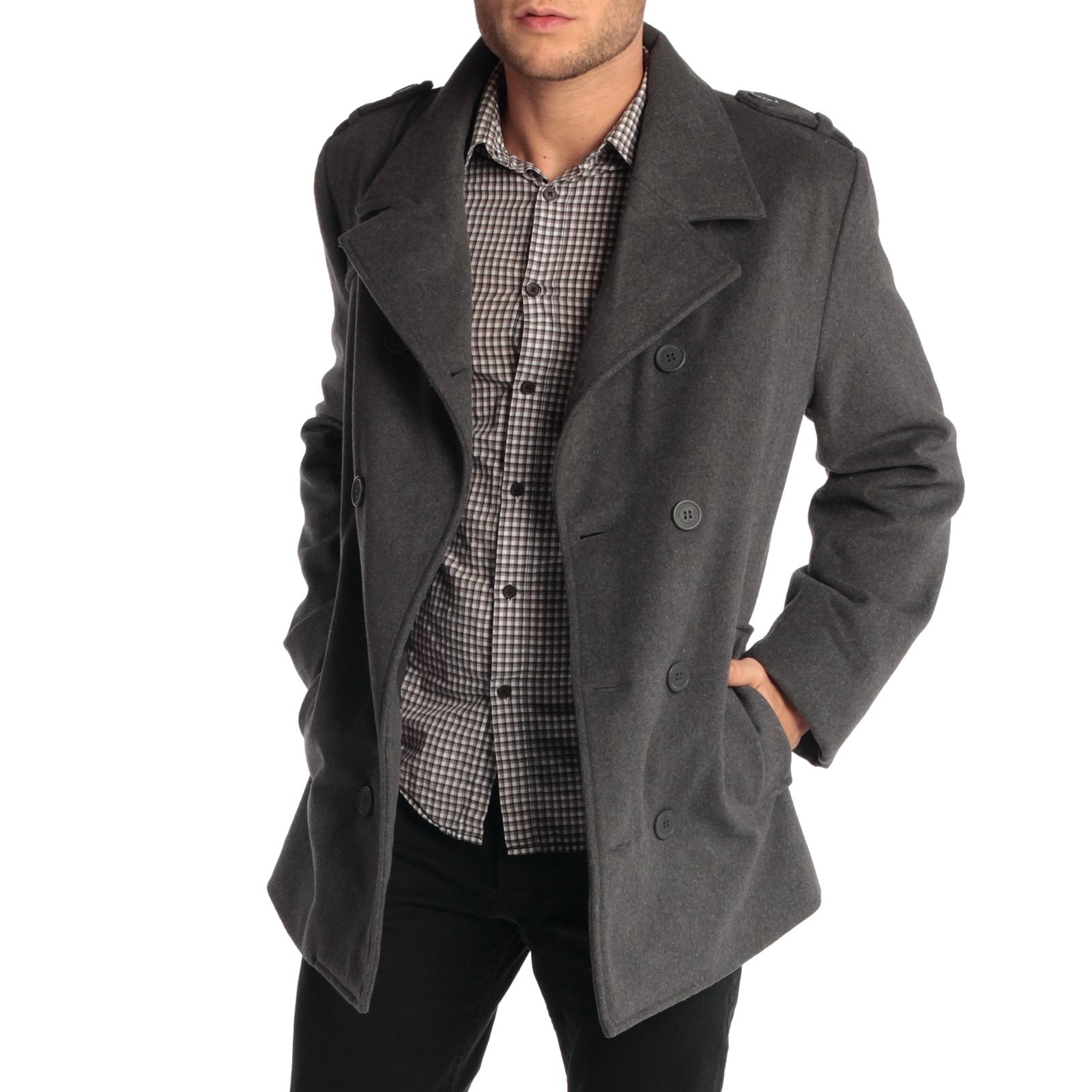 mens pea coats alpine-swiss-jake-mens-pea-coat-wool-blend- xdznenz