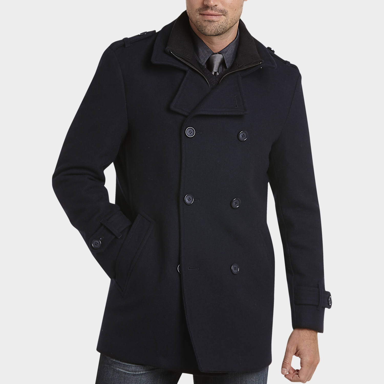 mens pea coats mens peacoats, outerwear - egara dark navy modern fit wool peacoat - menu0027s ifdmmky