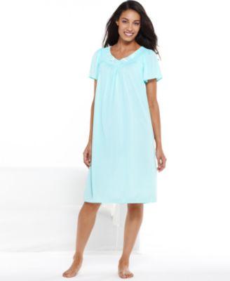 miss elaine short-sleeve embroidered nightgown uyspryv
