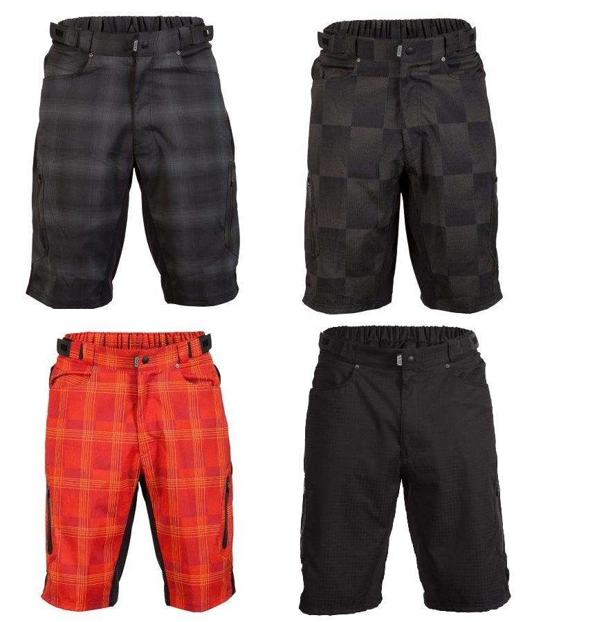 mountain bike shorts ... zoic menu0027s ether plaid baggy mountain bike bike shorts ... djnkqon