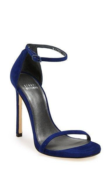 navy high heels stuart weitzman u0027nudistu0027 sandal at nordstrom.com. subtle texture lends  depth and. navy dunbmqc