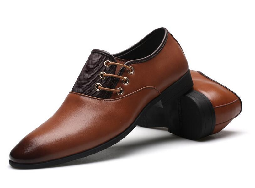 new british fashion designer men wedding dress shoes black brown shoes  pointed flqnorx