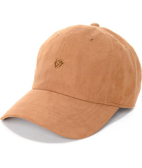 ninth hall trifecta tan baseball hat gwukova