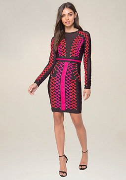 party dresses for women bebe lace up bodycon dress kfzezrf
