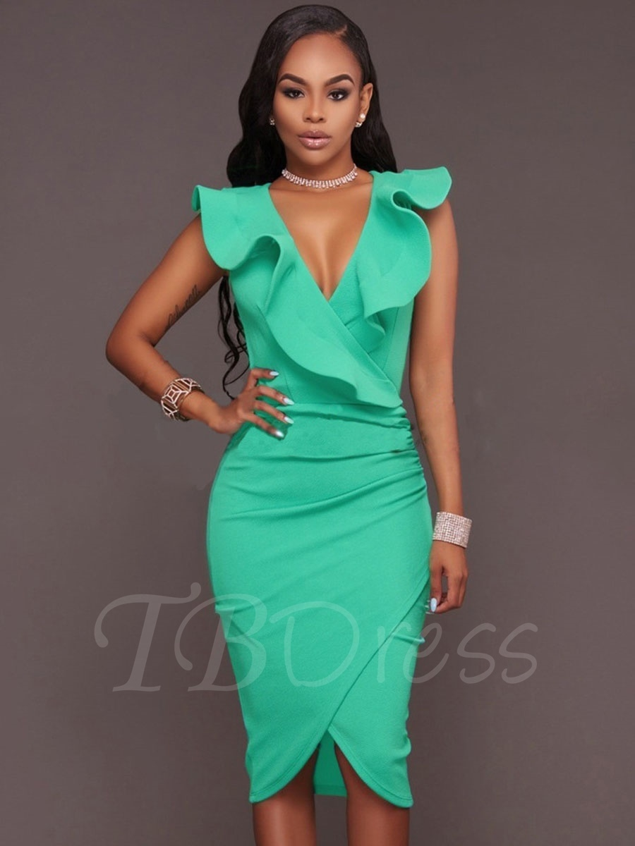 party dresses for women falbala ruffle plain bodycon asym womenu0027s party dress ncqrxef