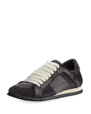 pedro garcia shoes cristina satin lace-up trainer sneaker kiomuqx