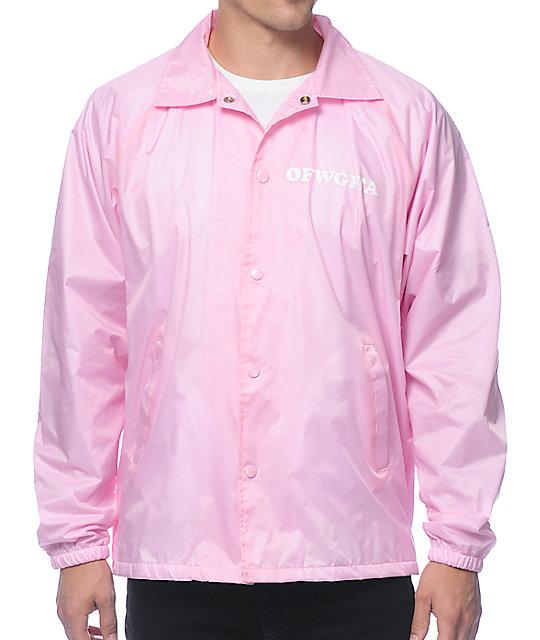 pink jacket odd future donut leaf pink coach jacket zkaohkp
