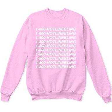 pink sweater 1 800 hotline bling sweater pullover sweatshirt pink - small tzdpakg