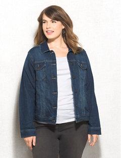 plus size denim jacket plus size classic denim jacket naamopt