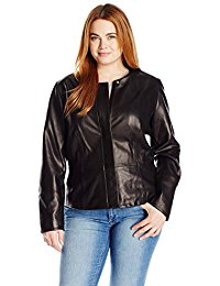 plus size leather jacket calvin klein womenu0027s plus size seamed leather jacket aodmlue