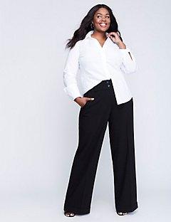 plus size suits ashley tailored stretch wide leg pant mikjwzp