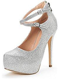 pump shoes dream pairs swan-20 new womenu0027s buckle ankle strap almond toe high heel dvqjkbw