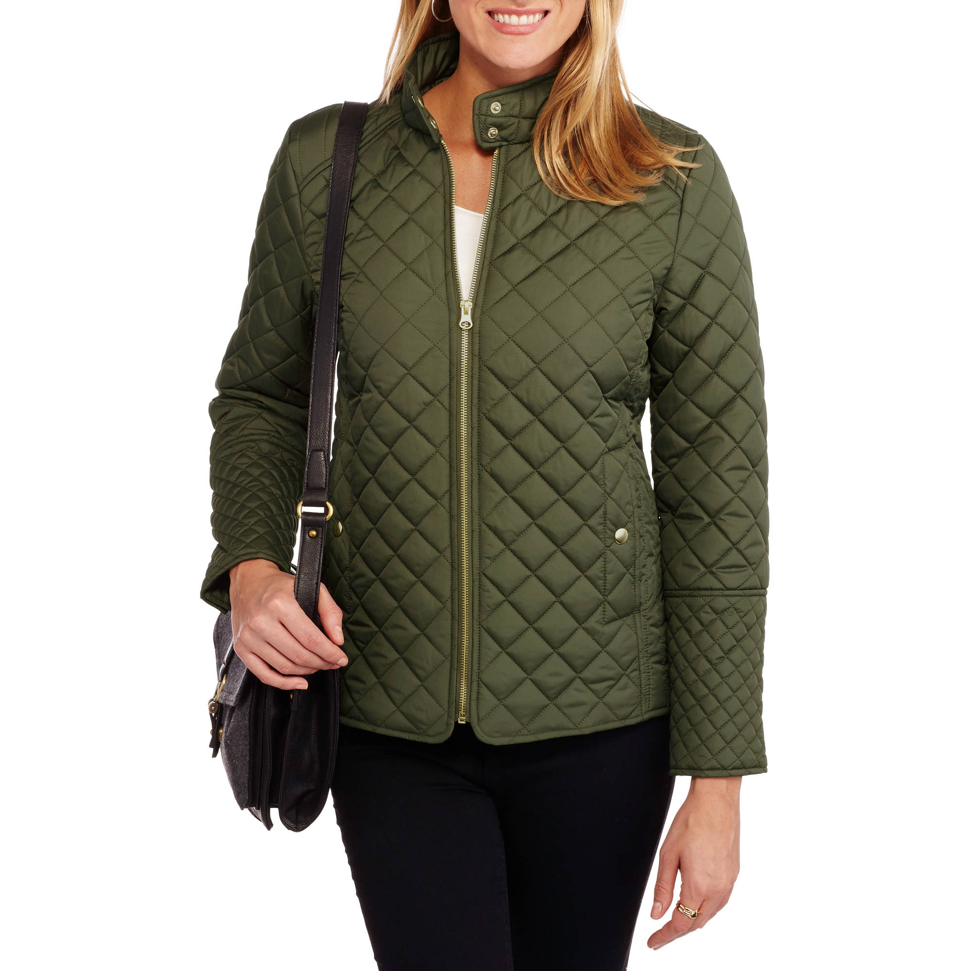 quilted jacket women faded glory womenu0027s quilted jacket - walmart.com loongvk
