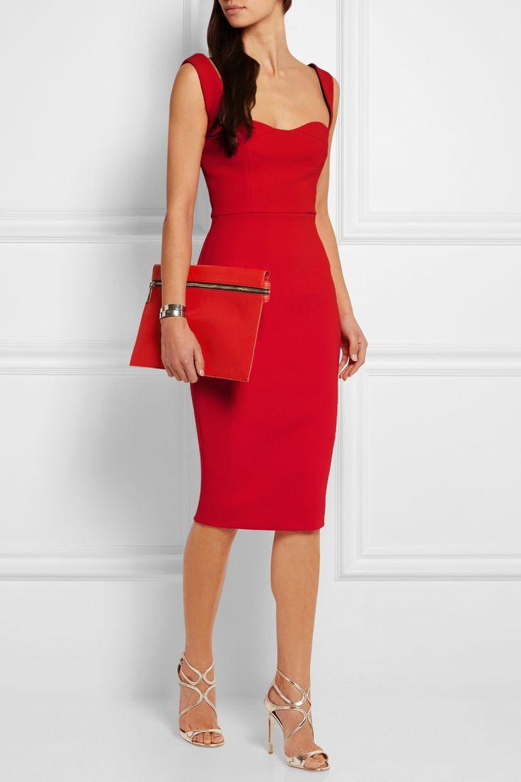 red cocktail dresses victoria beckham | crepe dress | net-a-porter.com tzsubxv