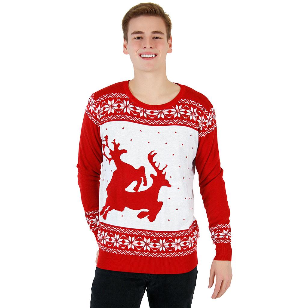 red reindeer christmas sweater rclusvn