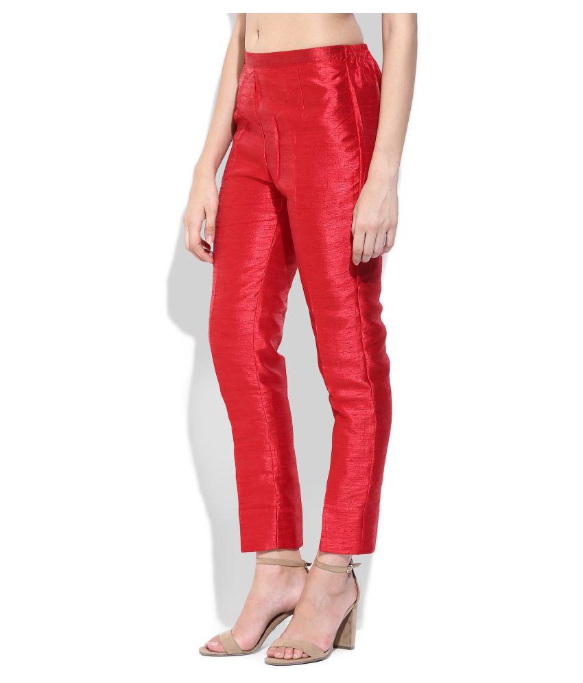 red silk cigarette pants red silk cigarette pants ... dywpzdv