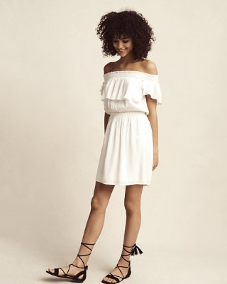ruffle dress ruffle off the shoulder dress njirafg